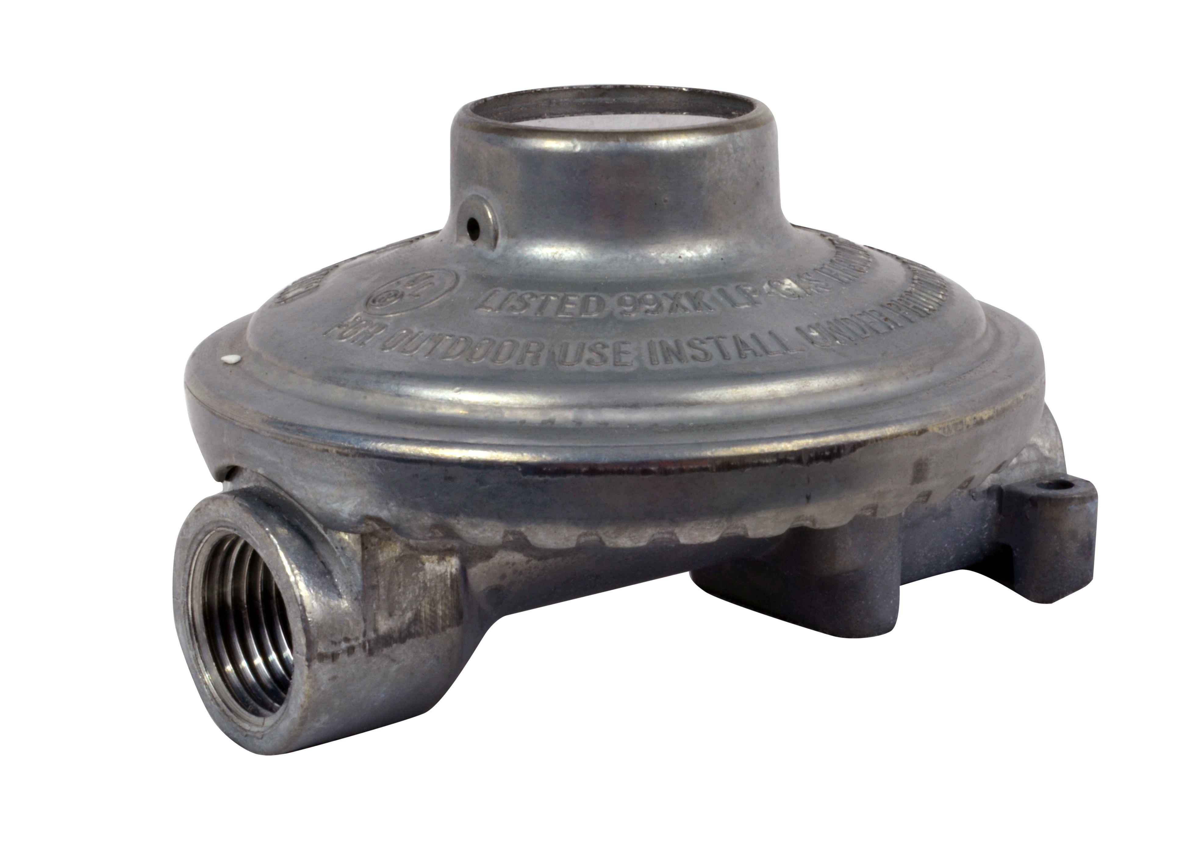 Enerco F173767 Propane Low Pressure Regulator (up to 90k BTU) Clamshell for RV