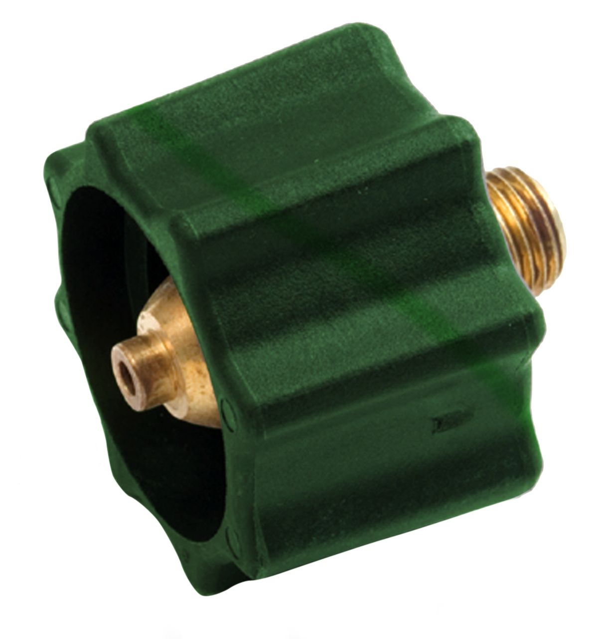 Enerco F176497 Propane Acme Nut (Green) Up To 200k BTU Clamshell for RV